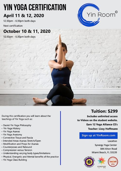 Miami Beach Yin Yoga Certification