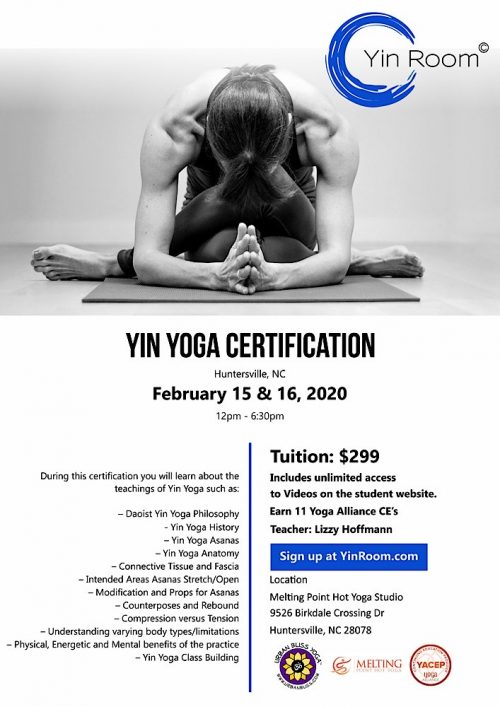 Huntersville Yin Yoga Certification